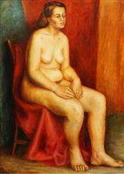 Sale 8675A - Lot 5084 - Reginald Aird (1890 - 1960) - Seated Nude 87 x 71cm