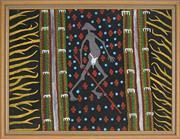 Sale 8878 - Lot 2035 - Matthew Tjupurrula Gill (1960 - 2002) - Desert Cat 44.5 x 58.5 cm (framed and ready to hang)