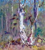 Sale 9002A - Lot 5005 - Gerrard Lants (1927 - 1988) - Parrots in the Bush 27 x 25 cm