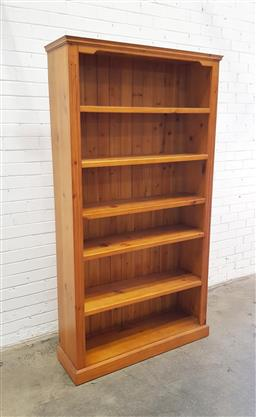 Sale 9108 - Lot 1010 - Timber bookcase (h200 x 110 x 33cm)