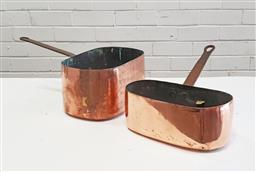 Sale 9126 - Lot 1028 - Pair of French copper daubieres