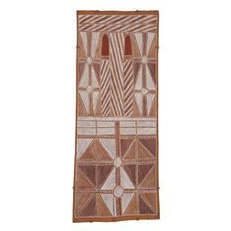 Sale 9195 - Lot 564 - MICKEY DAYPURRYUN (C1929 - 1994) - Djangkawu Ancestral Landscape, 1994 117 x 49 cm