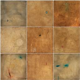 Sale 9252A - Lot 5036 - CONCHITA CARAMBANO (1961 - ) (Suite of 9 works) Untitled mixed media on canvas 30 x 30 cm, each signed verso, each
