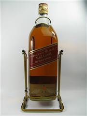 Sale 8290 - Lot 499 - 1x Johnnie Walker Red Label Blended Scotch Whisky - 4500ml bottle on cradle