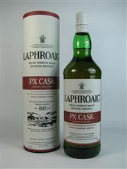 Sale 8367 - Lot 785 - 1x Laphroaig Pedro Ximenez Sherry Cask Triple Matured Islay Single Malt Scotch Whisky - 48% ABV, 1000ml in canister, travel retail...