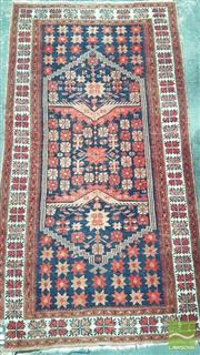 Sale 8390 - Lot 1506 - Maroon & Blue Hand Knotted Woollen Rug (205 x 110cm)