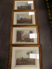 Sale 8422T - Lot 2007 - Four framed decorative prints of early engravings, frame size 62 x 74cm (each)