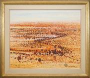 Sale 8449A - Lot 517 - Clem Millward (1929 - ) - Parched Plain, 1995 74.5 x 89.5cm
