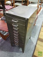 Sale 8528 - Lot 1047 - Metal 10 Drawer Filing Cabinet