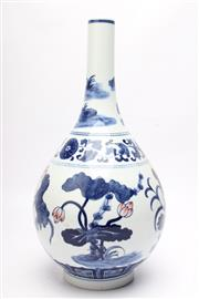 Sale 8715 - Lot 90 - Bottle Shape Chinese Vase Featuring Flowers
