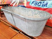 Sale 8822 - Lot 1046 - Large Galvanised Bath Tub