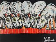 Sale 8826A - Lot 5085 - Yosi Messiah (1964 - ) - Desert Thirst 75 x 100cm