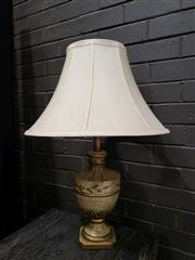 Sale 8962 - Lot 1077 - Timber Urn Form Table Lamp (H:70cm)