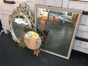 Sale 9034 - Lot 1026 - Collection of Mirrors inc Floral Example (Various Sizes)