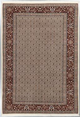 Sale 9199J - Lot 42 - A fine wool Herati design rug from Birjand, cream field with a complementing terracotta border, 300cm x 210cm
