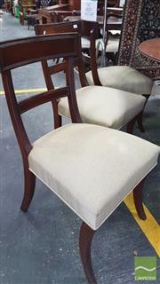 Sale 8375 - Lot 1066 - Set of Six Mid Victorian Mahogany Dining Chairs