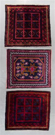 Sale 8493C - Lot 90 - 3 x Antique Doormats 55cm x 55cm