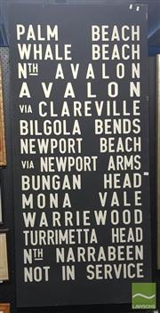 Sale 8544 - Lot 2055 - Reproduction Vintage Bus Sign