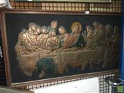 Sale 8622 - Lot 2188 - Copper Art Interpretation of The Last Supper