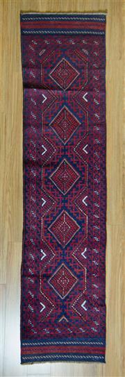 Sale 8693C - Lot 77 - Persian Baluchi Runner 250cm x 63cm
