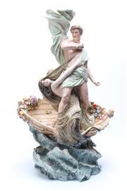 Sale 8729 - Lot 81 - Large Sitzendorf Figural Fruit Basket