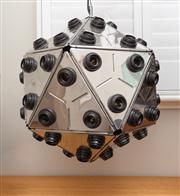 Sale 8741A - Lot 98 - A 1970s vintage modernist geodesic sputnik chrome chandelier, Diameter approx 60cm