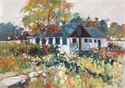 Sale 8755 - Lot 601 - Ken Strong (1960 - ) - Dutch House, 1993 40.5 x 60cm