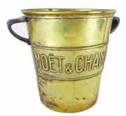Sale 8828A - Lot 54 - Antique French brass Moet and Chandon champagne bucket - 20 cm