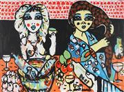 Sale 8826A - Lot 5071 - Yosi Messiah (1964 - ) - Glamorous Time 75 x 100cm