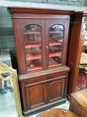 Sale 8831 - Lot 1053 - Late C19th Cedar Bookcase (key in office)