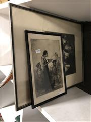 Sale 8819 - Lot 2090 - John Henry Amschewitz (2 works) The Marriage;Hot Soup drypoint etchings (AF - frame broken [1]) signed lower right