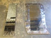 Sale 8971 - Lot 1015A - Mirrors x 2 (Wave Form - 120 x 66cm)