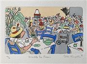 Sale 8996A - Lot 5035 - Peter Kingston (1943 - ) - Wattle Tea Rooms, 1989 29 x 33.5 cm