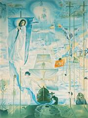 Sale 9032A - Lot 5041 - Salvador Dali (1904 - 1989) - The Discovery of America by Christopher Columbus 76 x 57 cm (frame: 110 x 87 x 5 cm)