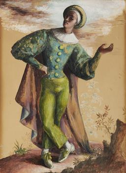 Sale 9096 - Lot 506 - Edgar Ritchard (1908 - 1984) Ballet Costume, 1947 watercolour and gouache 37 x 26.5 cm (frame: 62 x 52 x 3 cm) unsigned, Provenance:...