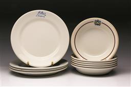 Sale 9110 - Lot 50 - A collection of bar ware ceramics, Maddock England Lyne Browne Melbourne bowls and Mottees Rempsey plates