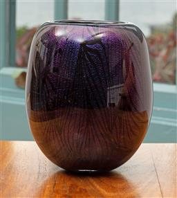 Sale 9191H - Lot 74 - Dichroic Vase by Sean ODonoghue, Noosa Master Glassblower, trained at Waterford Crystal, H 15 cm