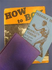 Sale 8419A - Lot 59 - Rocky! - a box of good boxing books including Rocky Graziano, Les Darcy, and Nat Fleischers Terrible Terry, etc