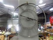Sale 8480 - Lot 1152A - Large Decorative Metal Wall Clock - in working order