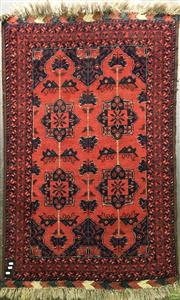Sale 8601 - Lot 1348 - Small Red Floor Rug (147 x 109cm)