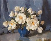 Sale 8683 - Lot 516 - Alan Douglas Baker (1914 - 1987) - White Roses 37 x 44.5cm