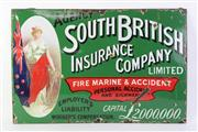 Sale 8761 - Lot 6 - Metal And Enamel South British Insurance Company Sign