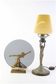 Sale 8810 - Lot 58 - Art Deco Figural Table Lamps (2)