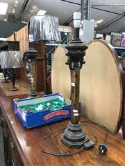 Sale 8868 - Lot 1539 - Pair of Metal Corinthian Table Lamp Bases