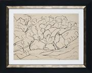 Sale 8908A - Lot 5042 - Desiderius Orban (1884 - 1986) - Untitled (Landscape) 26.5 x 26 cm