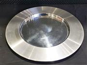 Sale 8984 - Lot 1067 - Vintage OPA Finland Stainless Steel Tray by Timo Sarpaneva (D:62cm)
