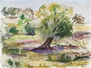 Sale 9055A - Lot 5033 - Frank Hinder (1906 - 1992) - Australian Capital Territory, 1943 18 x 23 cm (frame: 38 x 43 x 2 cm)