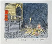 Sale 8996A - Lot 5036 - Peter Kingston (1943 - ) - The Club, 1989 29 x 33.5 cm