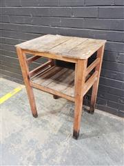 Sale 9034 - Lot 1094 - Rustic Side Table (h:81 x w:61 x 40cm)