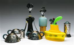 Sale 9148 - Lot 44 - A collection of Alessi wares incl bottle openers, salt and peppers and sugars